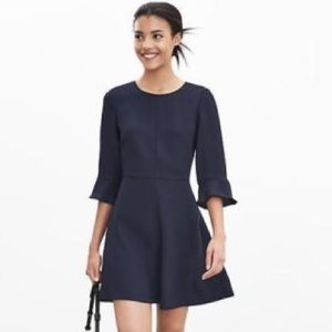 Flutter sleeved business casual dress